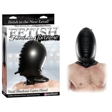 Capuz Inflavel Total Blackout Latex Hood - PipeDream