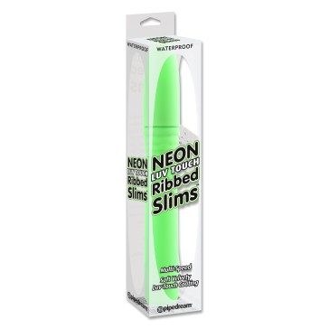 Neon Luv Touch Ribbed Slims - PipeDream