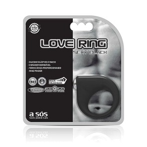 Anel Peniano com vibro Love Ring Black