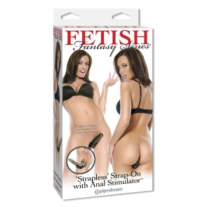 Fetish Fantasy Series Vibrating Strapless Strap On with Anal Estimulator - Pipedream